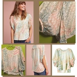Anthropology dolman sleeve blouse. Size LP.